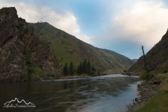 IDaho, North Central, Riggins. Pre-sunrise over the Main Salmon east of Riggins in spring.